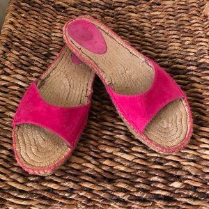 Ralph Lauren hot pink suede espadrilles